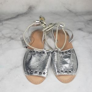 NWT Topshop Hope silver metallic stud sandals